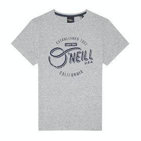 T-Shirt a Manica Corta O'Neill Cali - Silver Melee