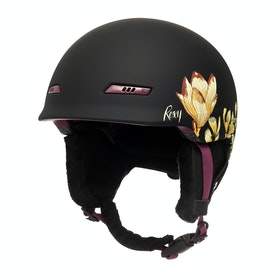 Roxy Angie Womens Ski Helmet - True Black Magnolia