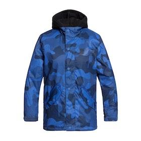 DC Union Snowboardjakke - Monaco Blue Yth Pill Camo