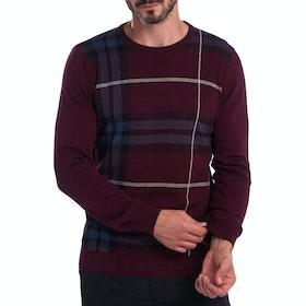 Barbour Elgin Jac Crew Men's Sweater - Merlot
