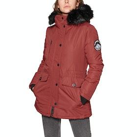 Veste Femme Superdry Ashley Everest Parka - Brick Red