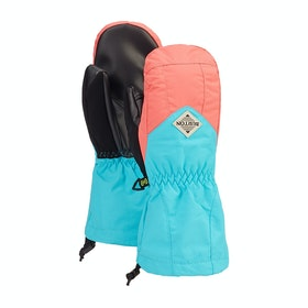 Burton Youth Profile Mitt Boys Snow Gloves - Georgia Peach Blue Curacao