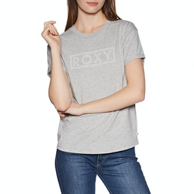 Roxy Epic Afternoon Word Womens Short Sleeve T-Shirt - Heritage Heather