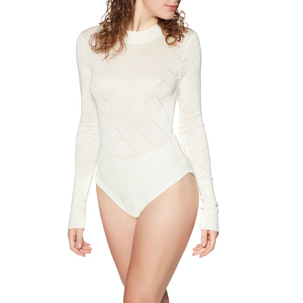 Free People Whats The Pointelle Dames Bodysuit