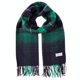 Joules Bracken Ladies Scarf - Navy Ombre Check