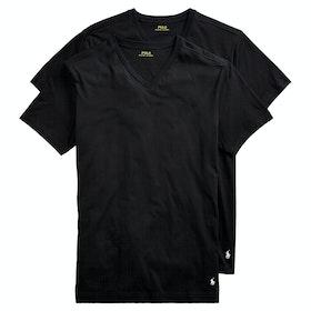Polo Ralph Lauren Cotton 2 Pk Loungewear Tops - 2pk Polo Black/polo Black