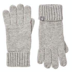Joules Snowday Ladies Gloves - Grey Marl