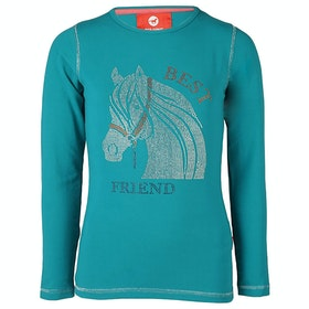 Horka Red Horse Flash Girls Top - Sea Blue