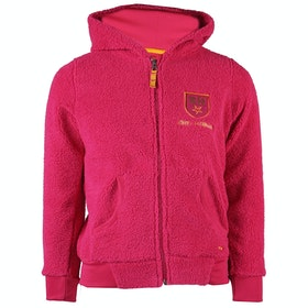 Horka Red Horse Teddy Fleece Girls Zip Hoody - Hot Pink
