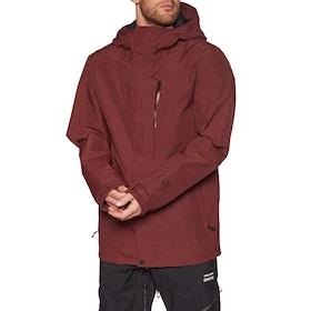 Volcom L Gore-tex Snow Jacket - Burnt Red