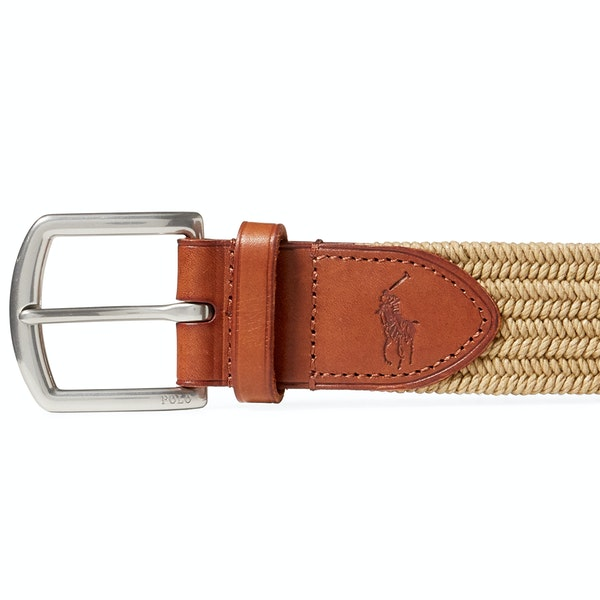 Polo Ralph Lauren 34mm Braided Fabric Stretch Blt Geweven Riem