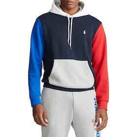 Pullover con Cappuccio Polo Ralph Lauren Color-Blocked Logo - Navy/Multi