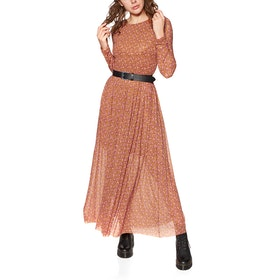 Abito Donna Free People Hello And Goodybye Midi - Brown