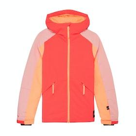 O'Neill Dazzle Girls Snow Jacket - Neon Flame