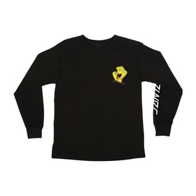 Santa Cruz Spongebob Hand Kids Long Sleeve T-Shirt - Black