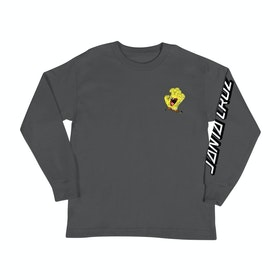 Santa Cruz Spongebob Hand Kids Long Sleeve T-Shirt - Charcoal Heather