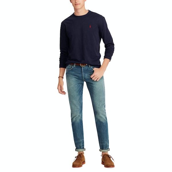 Ralph Lauren Embroidered Cotton Men's Long Sleeve T-Shirt