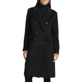 Lauren Ralph Lauren Double Breasted Wool Womens Bunda - Black