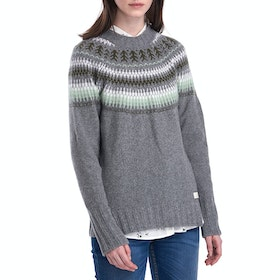Barbour Monmouth Knit Women's Sweater - Mid Grey Marl