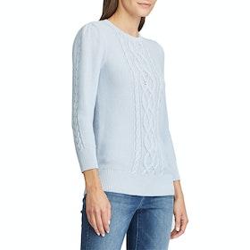 Lauren Ralph Lauren Tishari 3/4 Sleeve Women's Sweater - Toile Blue