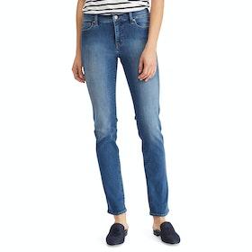 Lauren Ralph Lauren Premier Straight 5 Pocket Women's Jeans - Harbor Wash Denim