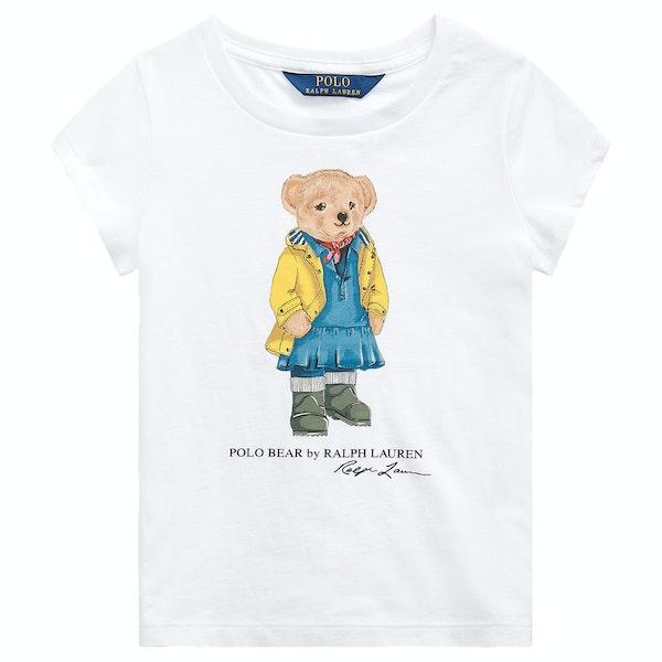 Polo Ralph Lauren Bear Knit Girl's Short Sleeve T-Shirt