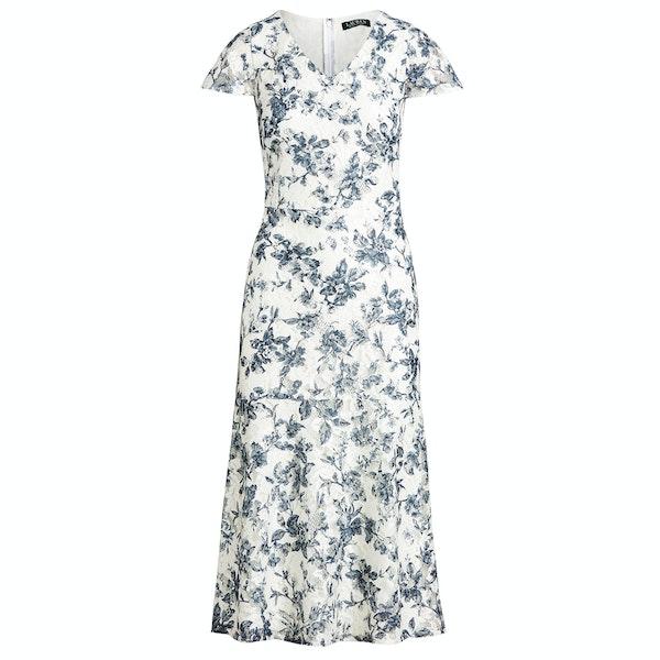 Lauren Ralph Lauren Floral Lace V-Neck Dress