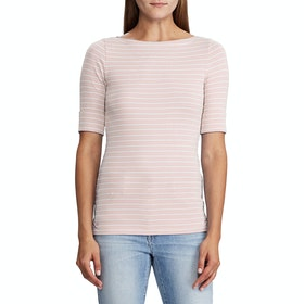 Lauren Ralph Lauren Judy Elbow Sleeve Dames Top - Pink Macaroon / M Cream