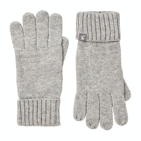 Joules Snowday Womens Gloves - Grey Marl