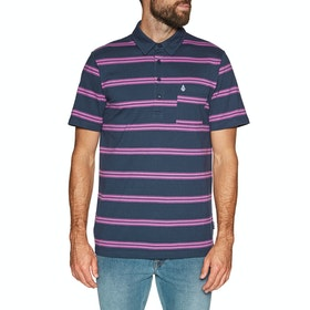 Volcom Smithers Polo Shirt - Blue Black
