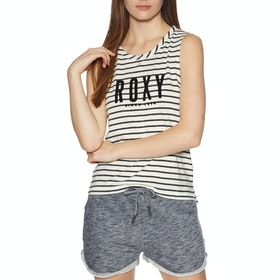 Roxy Are You Gonna Be My Friend Womens Tank Vest - Anthracite Zoupla Horizontale