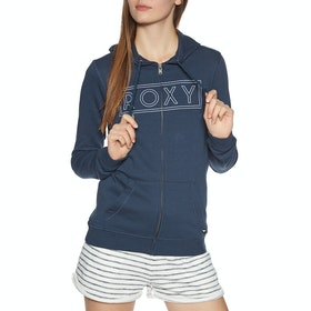 Sweat à Capuche avec Fermeture Éclair Femme Roxy Cosmic Night Terry - Mood Indigo