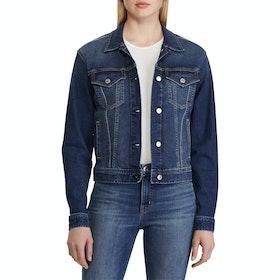 Lauren Ralph Lauren Paizley Women's Jacket - Cadet Blue Wash