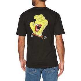 Santa Cruz Spongebob Hand Short Sleeve T-Shirt - Black