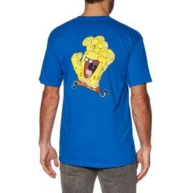 T-Shirt à Manche Courte Santa Cruz Spongebob Hand - Royal