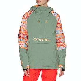 O'Neill Original Anorak Snow Jacket - Pink Green