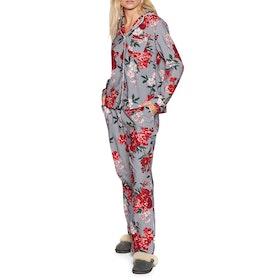 Joules Caitlin Womens Pyjamas - Blue Stripe Floral