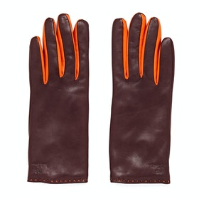 Paul Smith Col Contrast Gloves - Burgandy