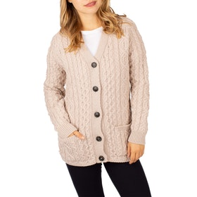 Peregrine Made In England Holly Ladies Cardigan - Ivory