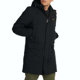 Lyle & Scott Wadded Longline Jacke - True Black