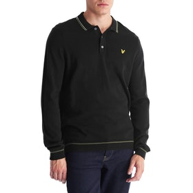 Lyle & Scott Knitted Ls Polo Herren Knits - True Black