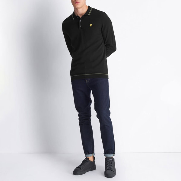 Lyle & Scott Knitted Ls Polo Heren Breigoed