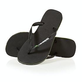 Sandały Havaianas Brasil Logo - Black/black