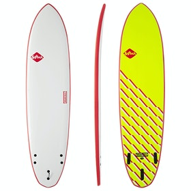 Softech Brainchild FCS II Thruster Surfboard - Red Wave