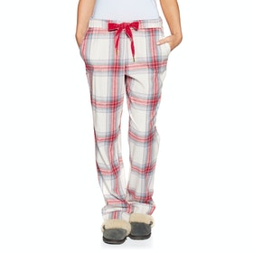 Joules Snooze Woven Bottoms Womens Pyjamas - Cream Check