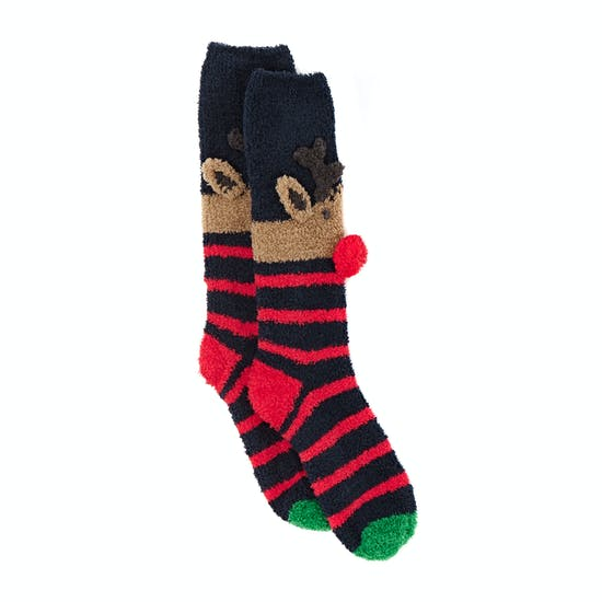 Joules Christmas Fluffy Damen Socken