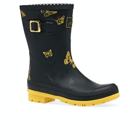 Joules Molly Womens Wellies - Black Butterfly