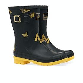 Joules Molly Women's Wellington Boots - Black Butterfly