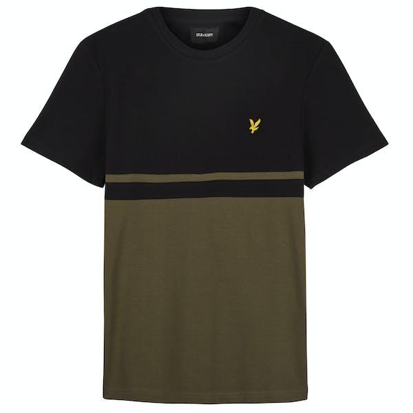 Lyle & Scott Panel Stripe , Kortärmad T-shirt Mäns