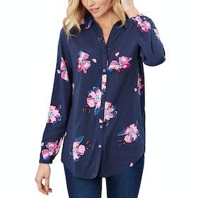 Joules Elvina Ladies Shirt - Navy Spaced Floral